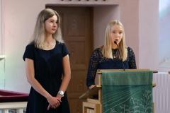 Nuorten puheenvuoron käyttivät Reetta Salmela ja Jessica Niska